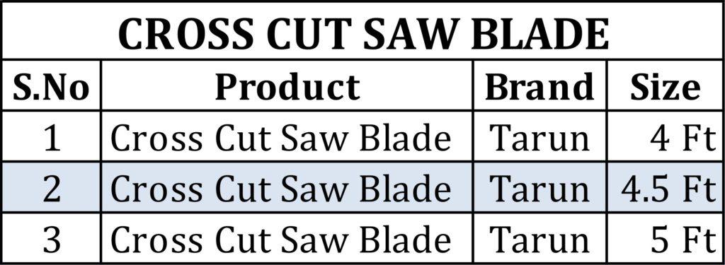 Cross Cut Saw BLADE