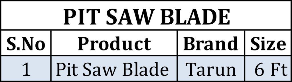 Pit saw blade