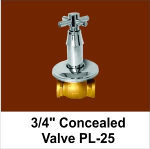 Quarter Concealed Valve
